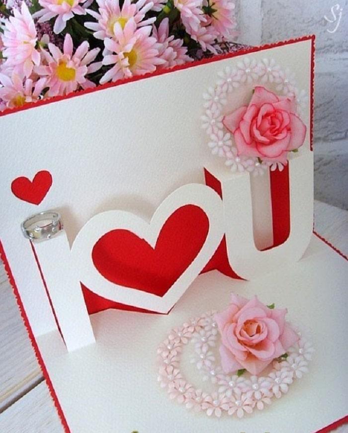 làm thiệp sinh nhật handmade dễ thương tặng người yêu 13