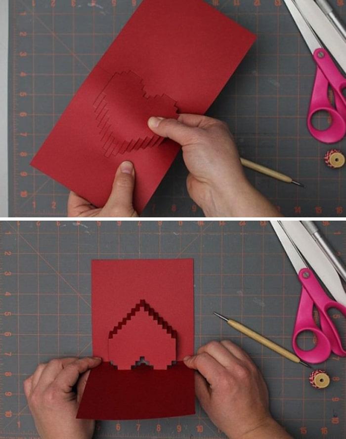 làm thiệp sinh nhật handmade dễ thương tặng người yêu 5