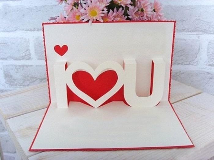 làm thiệp sinh nhật handmade dễ thương tặng người yêu 9