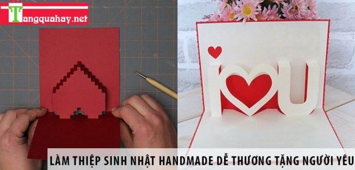 làm thiệp sinh nhật handmade dễ thương tặng người yêu