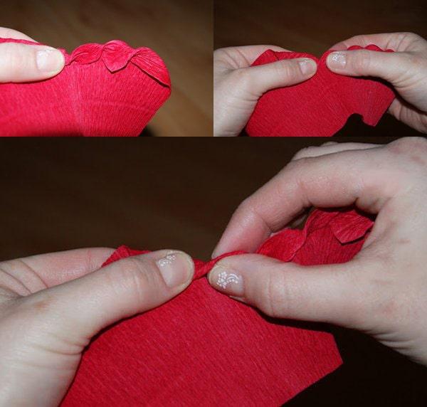 Cách làm hoa hồng giấy đáng yêu tặng bạn gái 2