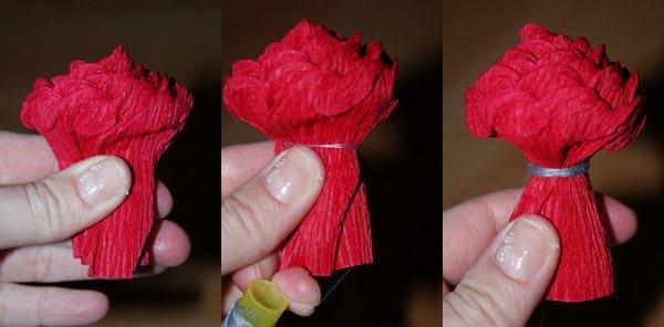 Cách làm hoa hồng giấy đáng yêu tặng bạn gái 5