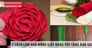 2 Cách làm hoa hồng giấy đáng yêu tặng bạn gái 1