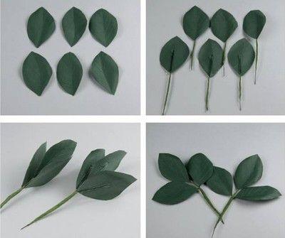 Tạo hình cho phần lá cây hoa hồng
