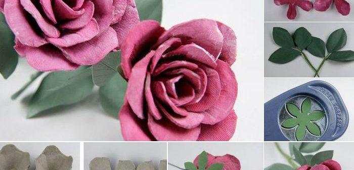 Bông hồng giả cực đẹp từ những vật liệu tái chế