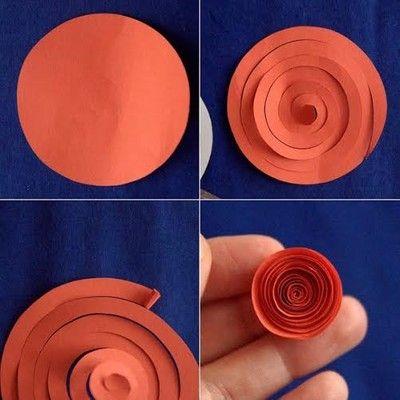 Cắt, cuốn hình xoắn ốc để tạo hình bông hoa