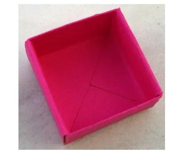 Cách gấp hộp quà bằng giấy lịch lãm tặng bố kính yêu 8