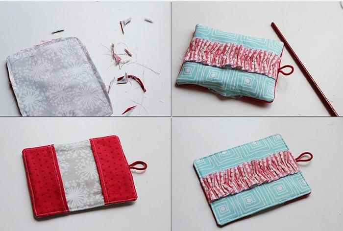 2 Cách làm ví cầm tay handmade ấn tượng10