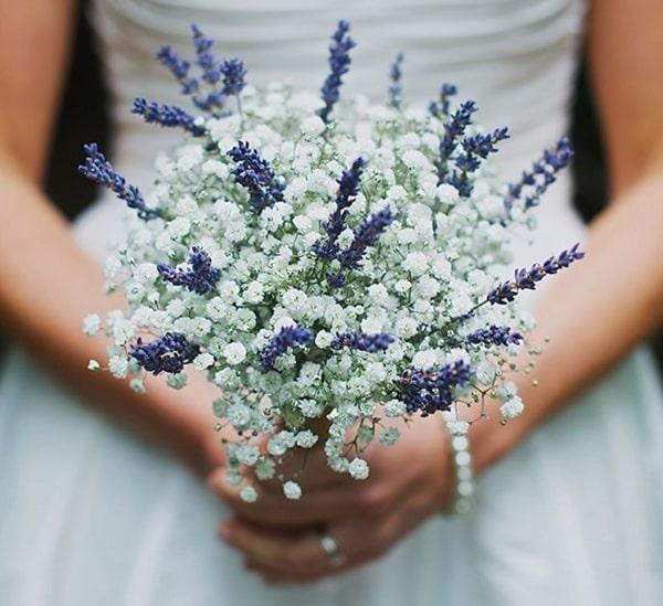 Cách bó hoa oải hương khô đẹp và đơn giản 3