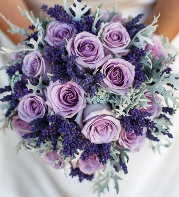 Cách bó hoa oải hương khô đẹp và đơn giản 4