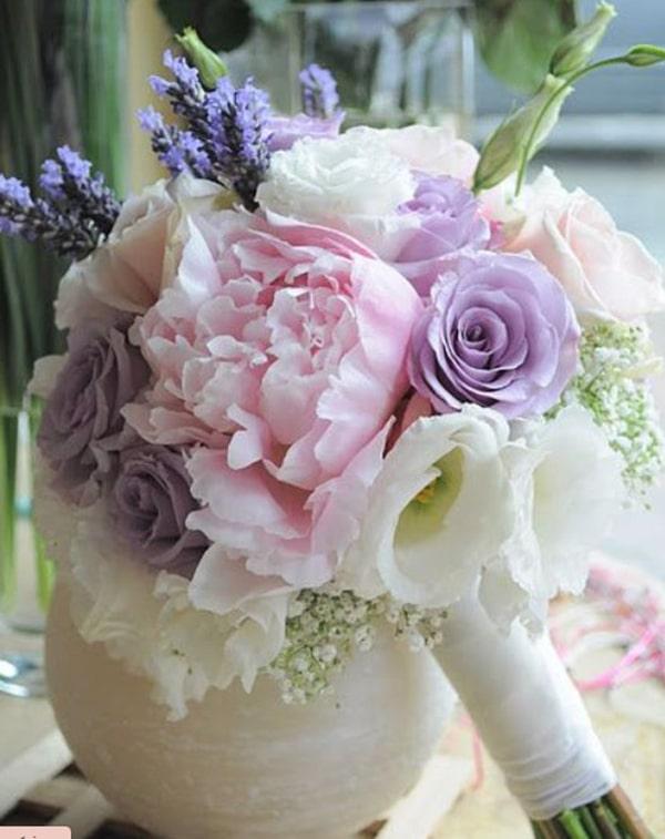 Cách bó hoa oải hương khô đẹp và đơn giản 6
