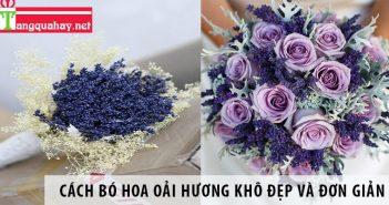 Cách bó hoa oải hương khô đẹp và đơn giản