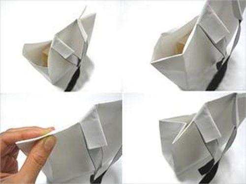 Tạo hình cổ áo cho chiếc túi