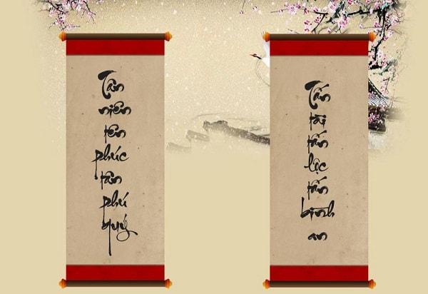 Câu đối - quà tặng mang phong cách truyền thống