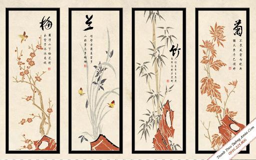 Tranh Hán chữ Nôm cũng là một trong những món quà mừng tân gia