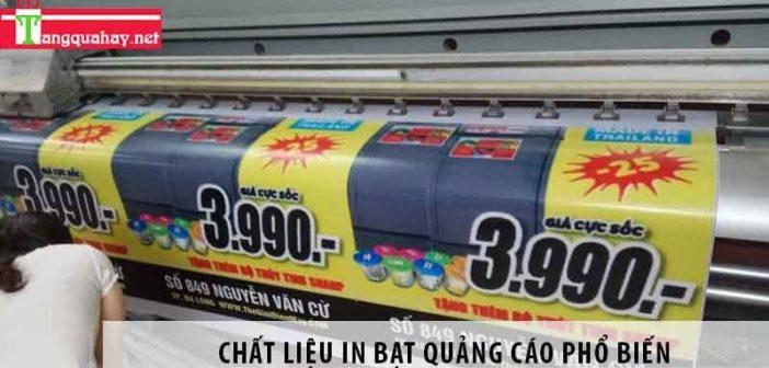 4 chất liệu in bạt quảng cáo phổ biến trên thị trường