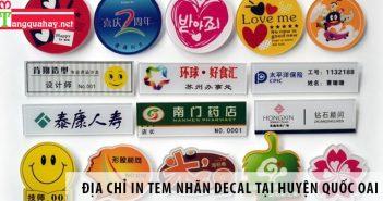 Địa chỉ in tem nhãn decal uy tín tại huyện Quốc Oai, Hà Nội