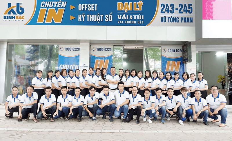 Đội ngũ công nhân viên của in Kinh Bắc