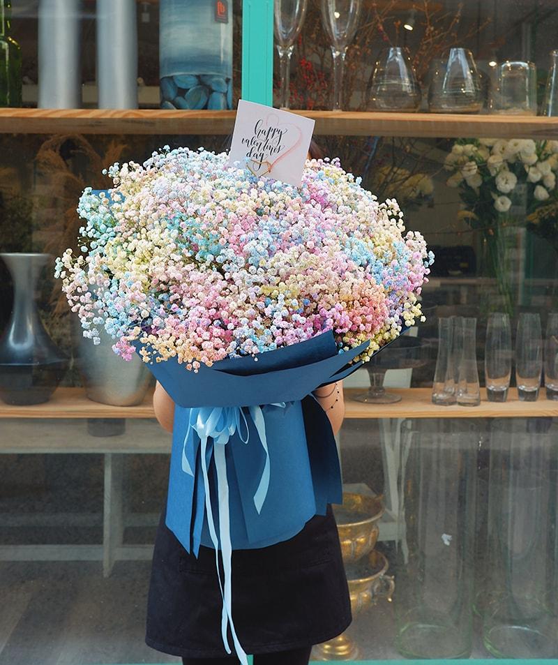 Hoa baby tặng người yêu ngày lễ tình nhân thể hiện một tình yêu vĩnh cửu, bất diệt luôn luôn hạnh phúc