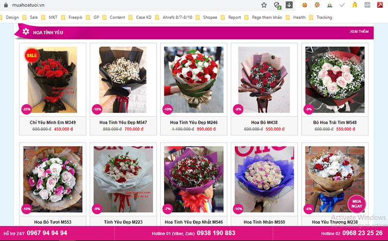 muahoatuoi.vn cung cấp rất nhiều các loại hoa tình tặng người yêu dịp lễ tình nhân