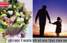 Nhắn gửi những lời chúc ý nghĩa với bó hoa tặng sinh nhật bố