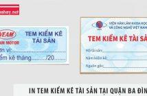 In tem kiểm kê tài sản quận Ba Đình nhanh chóng, giá rẻ